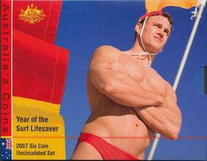 Australia-2007-Uncirculated-set-Cat-35-Year-of-Surf-Lifesaver
