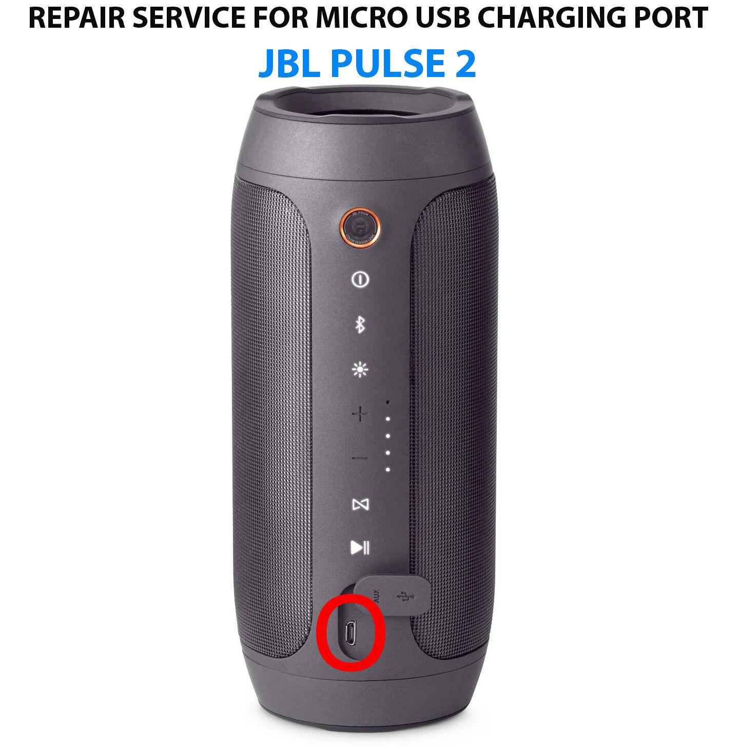 JBL Pulse Bluetooth Speaker Fast Repair Service for Micro USB Charging Port