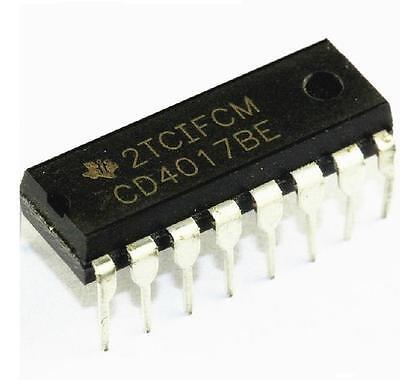 5PCS CD4017 4017 DIP-16 DECADE COUNTER DIVIDER NEW GOOD QUALITY