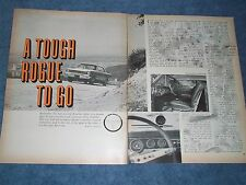 """1967 Rambler American Rogue Vintage Road Test Info Article """"A Tough Rogue To Go"""""""