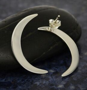 Large-Sexy-Crescent-Moon-Post-Earrings-Sterling-Silver-925-Gift-Wife-Girl