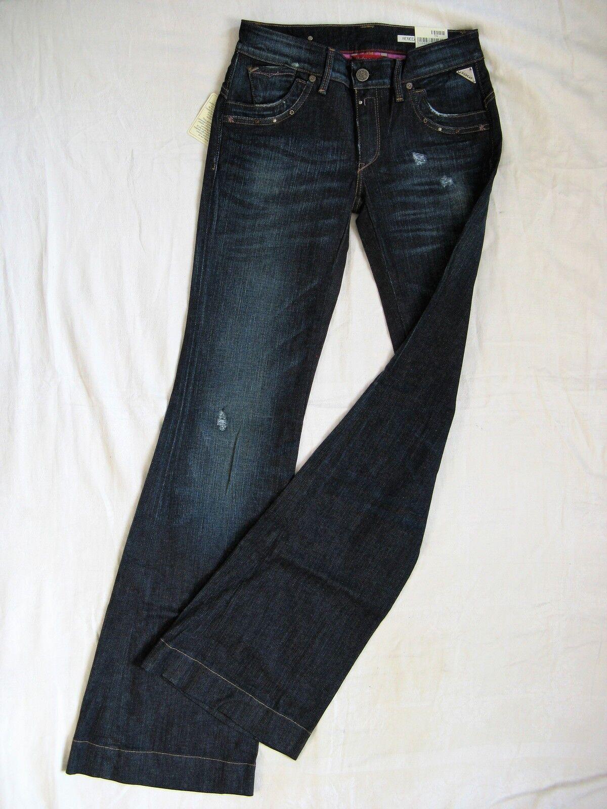 Replay Renecara Damen Blau Jeans Schlag Stretch W27 L34 low waist slim fit flare | Auf Verkauf  | Jeder beschriebene Artikel ist verfügbar  | Erlesene Materialien  | Großer Verkauf  | Sorgfältig ausgewählte Materialien
