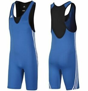 adidas-Performance-Base-Wrestling-Suit-Sizes-XS-L-XXL-Blue-RRP-40-V13838-BNWT