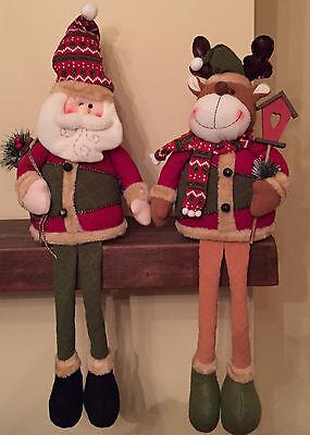 Santa & Renne Set Seduto Su Ci Proprio Ornamento Decorazione Natalizia Set 165-mostra Il Titolo Originale Da Processo Scientifico