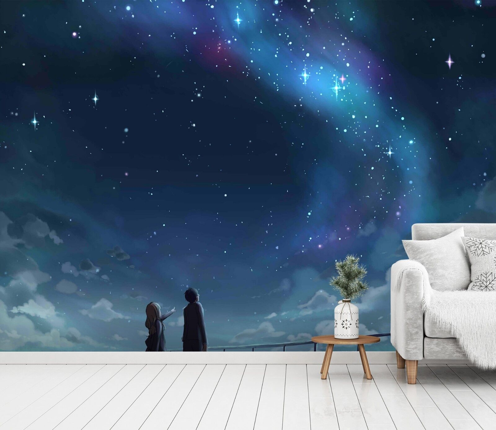 3D Starry Sky Romance 5 Wall Paper Wall Print Decal Wall Deco Indoor Wall Murals