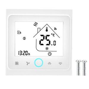 2//4 Rohr WiFi Intelligenter zentraler Klimaanlagen-Thermostat-Temperaturbegrenzer LCD-Touch Screen Four Pipe NEUFDAY Intelligentes programmierbares Touch Screen Thermostat