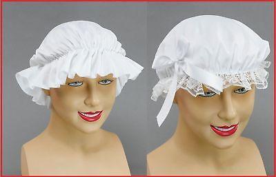 Vittoriana Fancy Dress Up Mocio Cap MOB Cappello Tudor Povera Ragazza Costume Cameriera Grembiule