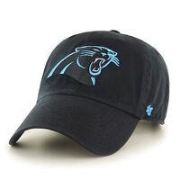 Carolina Panthers 47 Brand Clean Up Hat Adjustable Cap Black