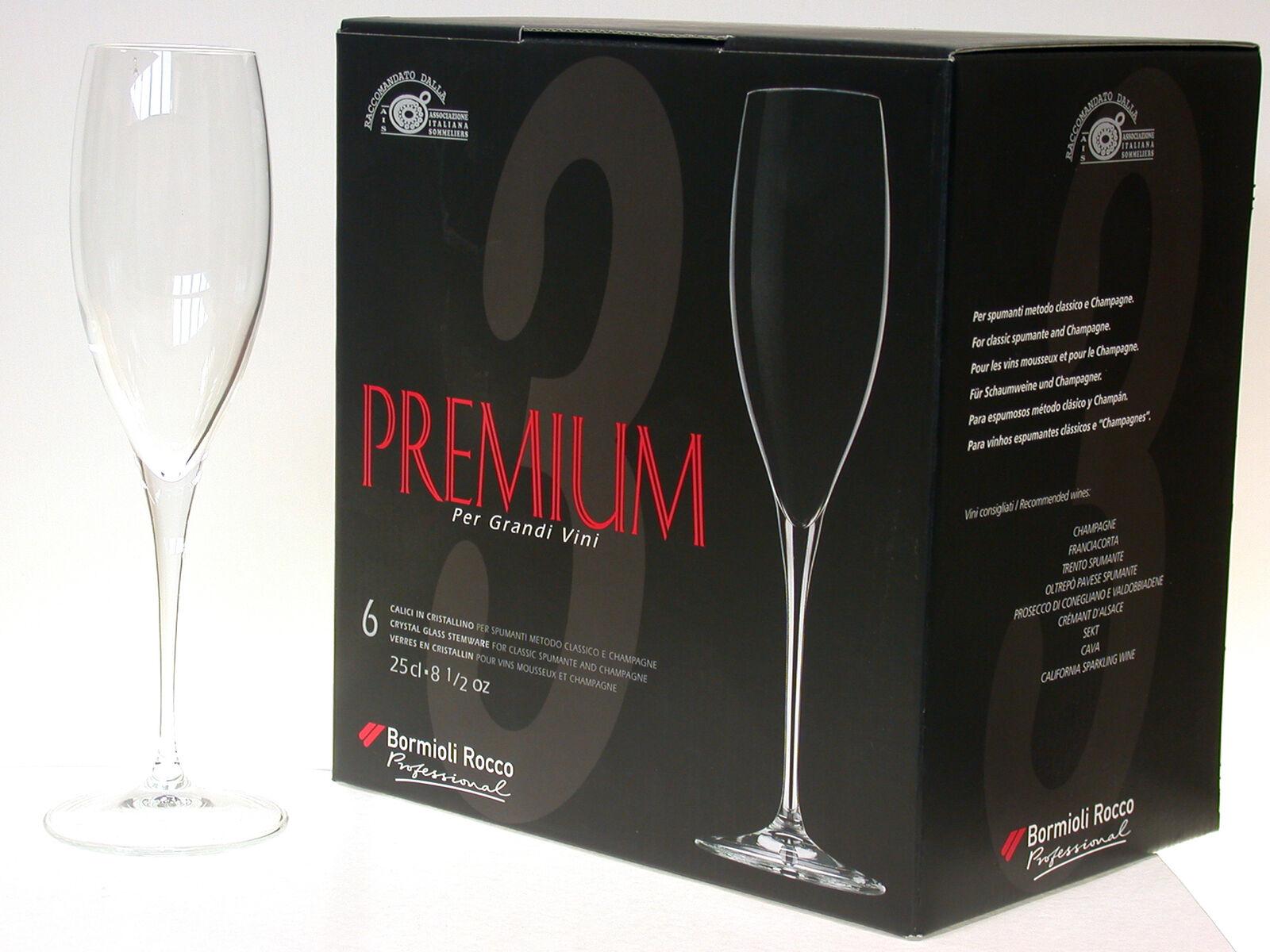 BORMIOLI ROCCO Set 12 Calici Premium Champagne Cl25