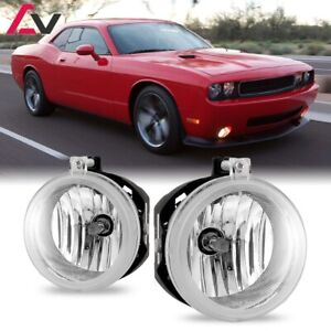 For Dodge Challenger 08-10 Clear Lens Pair Bumper Fog Light Lamp Replacement