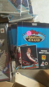 1991-Topps-Stadium-Club-Hockey-Lot-of-2-Unopened-Wax-Boxes