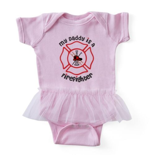 My Daddy Is A Firefighter CafePress Baby Tutu Bodysuit
