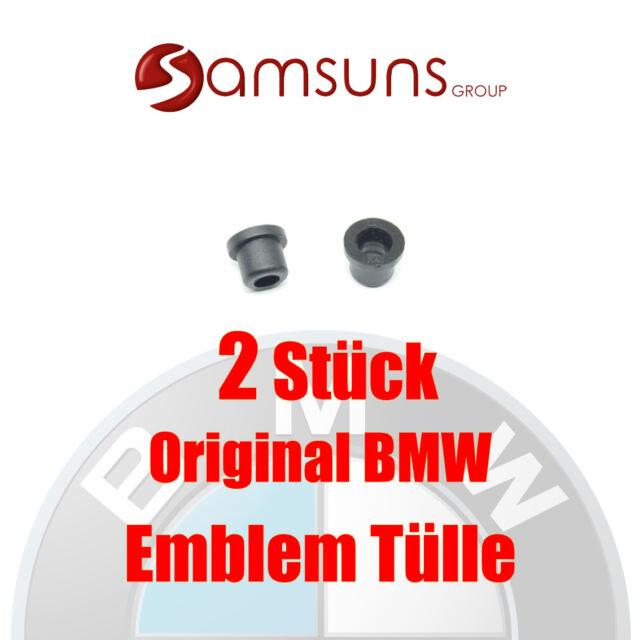 2x Original BMW Logo Emblem Grommets 82mm E87 E93 E60 E64 E66 X1 X3 X5 X6 Fx
