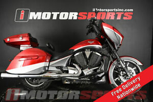 2015 Victory Motorcycles Magnum Magnum Red over Super Steel Gray