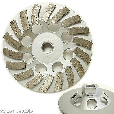 "4.5"" Spiral Turbo Diamond Cup Wheel for Concrete Grinding 9 Segs 5//8""-11 Arbor"