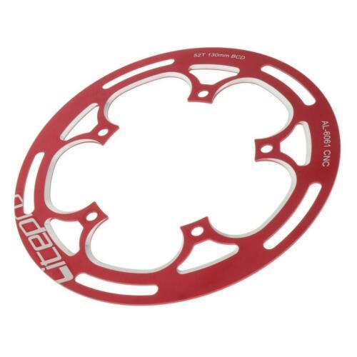 53 Zähne MTB Chainring Kettenschutzring 130mm BCD New Kettenblatt 52