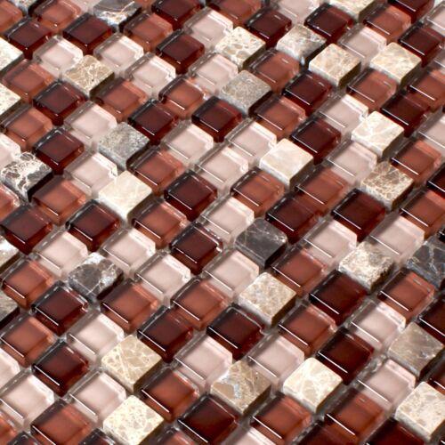 MUSTER Kristallglas Marmor Mosaik Braun Mix