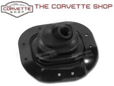 68-76 CORVETTE SHIFT BOOT ~BLACK LEATHER SHIFTER BOOT AT OR MT