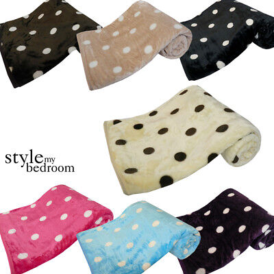 New Chocolate Single Size 127x152cm Faux Fur Mink Throw Luxury Sofa Blanket Bed