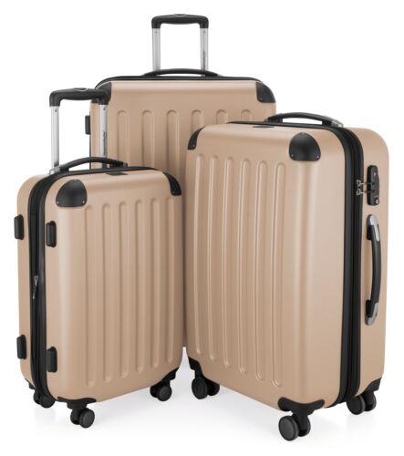 S, M, XL Coquille facile Capitale valise valise-Set Champagne TSA, Spree