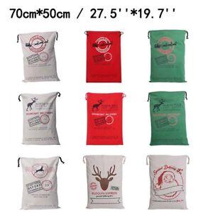 Large-Canvas-Sack-Merry-Christmas-Xmas-Santa-Stocking-Reindeer-Gift-Storage-Bag