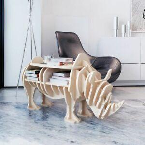 Dettagli su vidaXL Tavolo tavolino salotto soggiorno moderno Rinoceronte  legno Mensola libri