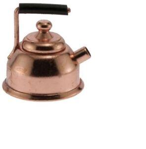 Dollhouse Miniatures 1:12 Scale Copper Tea Kettle #IM65065
