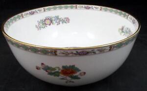 "Wedgwood KUTANI CRANE 8"" Salad Bowl Gold Trim R4464 Bone China GREAT CONDITION"