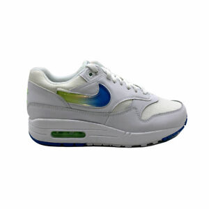 Nike Air Max 1 SE Jelly Mens Ao1021 101 White Blue Lime Running Shoes Size 9.5