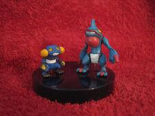 2 Pokemon-Figure:Glibunkel+Toxiquak/Scale 1:40/Yujin/Zukan(Croagunk+Toxicroak)33