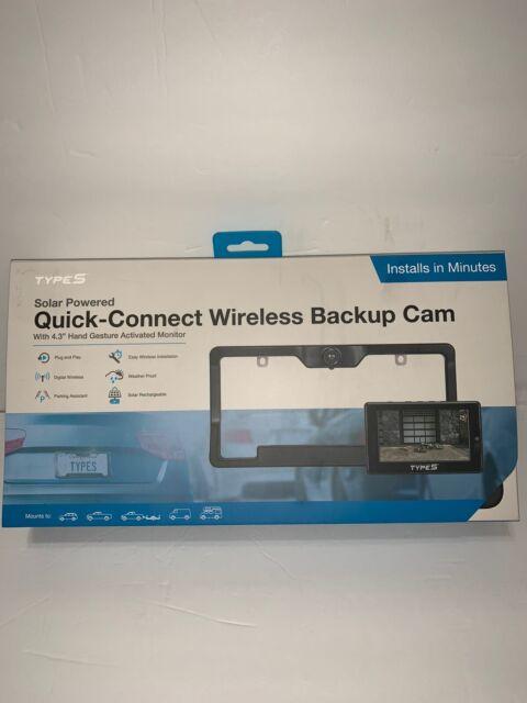 Type S Solar Powered Wireless Backup Cam w/ 4.3