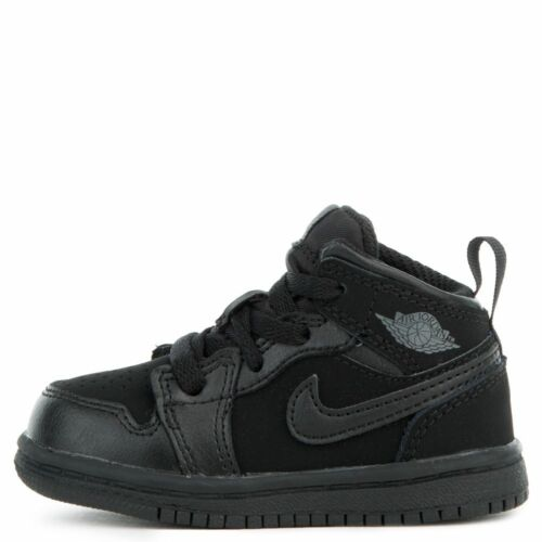 TD Jordan 1 Toddler Black//Dark Grey-Black 640735-050 Sneakers Shoes
