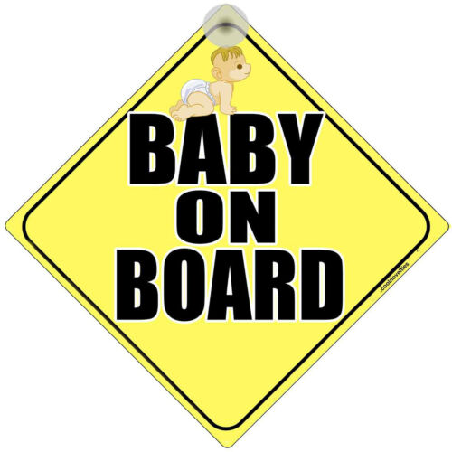 "/"" BABY ON BOARD /"" LASER PRINTED SIGN FOR CAR WINDOWS"