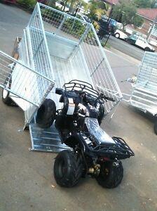 Box-trailer-7x4-Winch-tipper-Hot-dipped-gal-mesh-cage