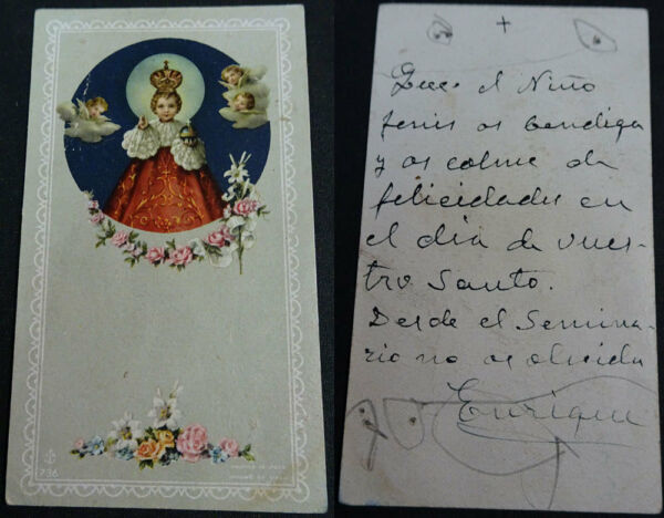 Estampa Holy Card NiÑo Jesus Andachtsbild Santini Cc1437 DesempeñO Confiable