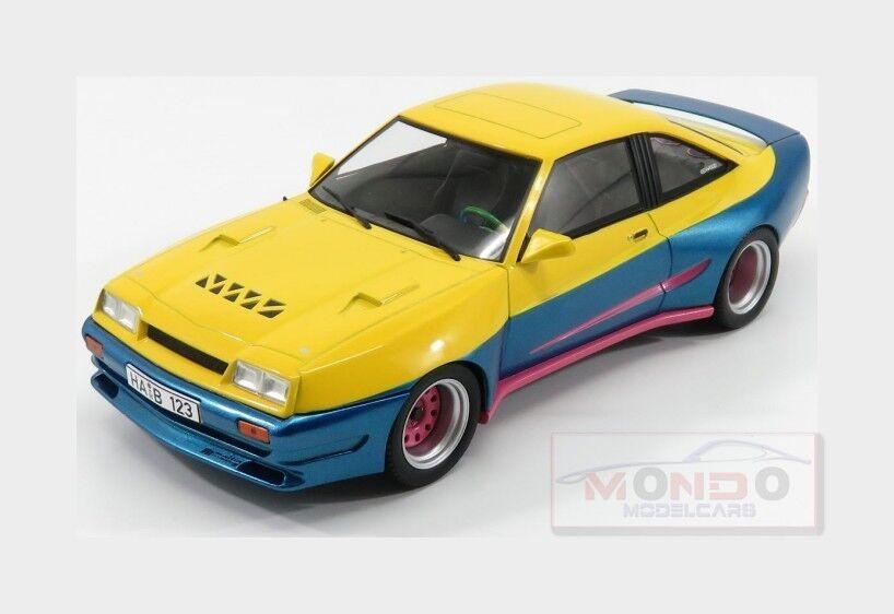 Opel Manta B Mattig 1991 jaune bleu Met rose MCG 1 18 MCG18095