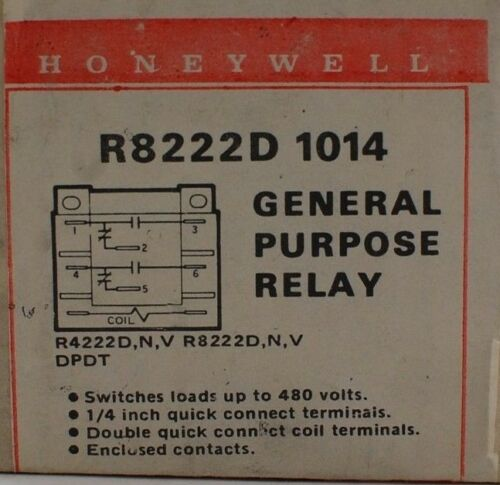 Honeywell R8222D 1014 GENERAL PURPOSE RELAY