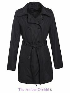 Brave-Soul-Womens-Ladies-Trench-Mac-Double-Breasted-Coat-Belted-Jacket