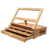 Beech Burlywood 3-Drawer Tabletop Easel