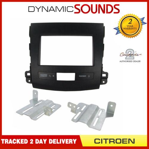 CT23CT02 double din car stereo Fascia Plaque noir pour Citroen C-CROSSER 2007-13