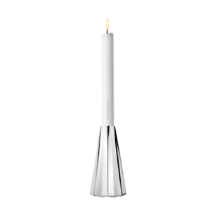 NEW GEORG JENSEN PAIR MCM HARLEQUIN Stainless Steel Candlesticks Candle Holders