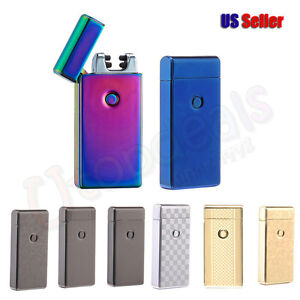 Dual-Arc-Electric-USB-Lighter-Rechargeable-Windproof-Flameless-US-Seller