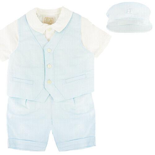 Emile Et Rose Boys Trousers Waistcoat /& Hat BNWT Top Blue - ER9507