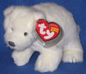 TY Beanie Baby - MWMTs Internet Exclusive ICEPACK the Polar Bear 6.5 inch