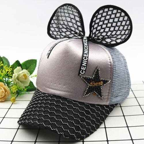 Kids Girls Big Bow Knot Baseball Cap Cute Princess Children Adjustable Sun Hats