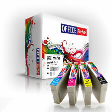 20x OFFICE-Partner Premium Tinten Patronen kompatibel T0715 Epson Stylus DX5000