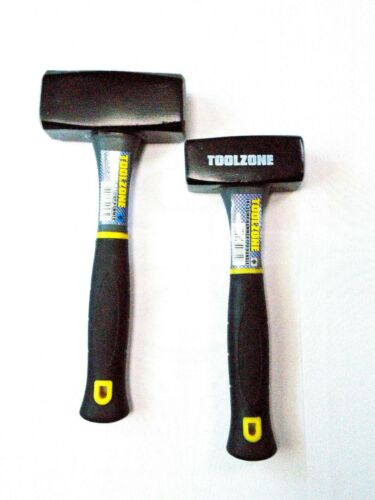 Toolzone 1kg or 2kg Tpr Handle Lump Hammer