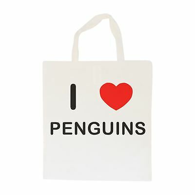 I Love Penguins - Cotton Bag | Size choice Tote, Shopper or Sling