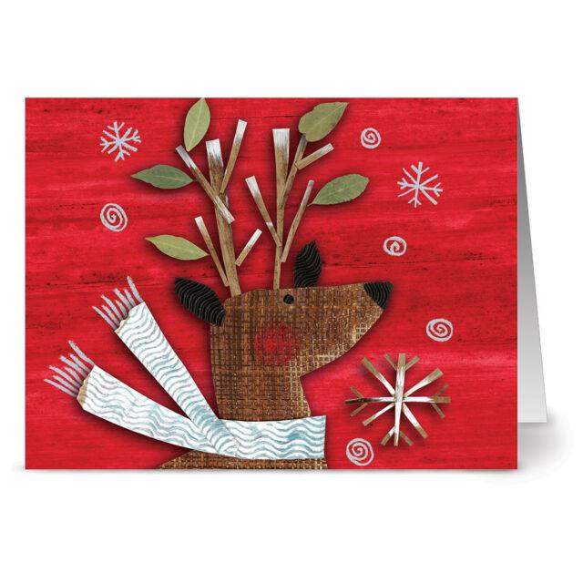Red Reindeer Red Envs 24 Holiday Cards