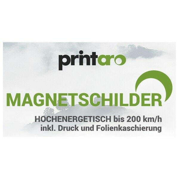 2 x x x imán letreros/lámina magnético 60x20cm incl. impresión digital  folienkaschierung c00e8c